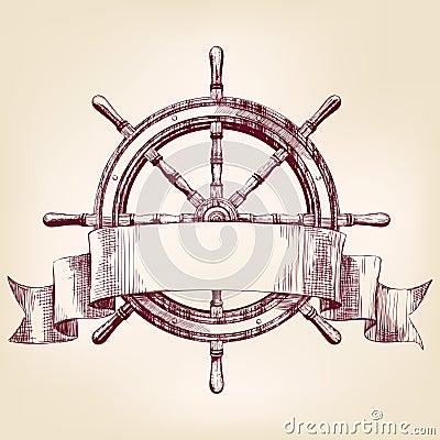 Illustration de vecteur de dessin de volant de bateau - Dessin volant ...