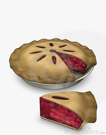 Illustration of delicious pie