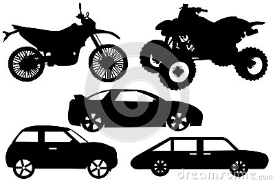 Illustration of a different automobile