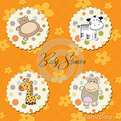 Illustration of different  items for baby