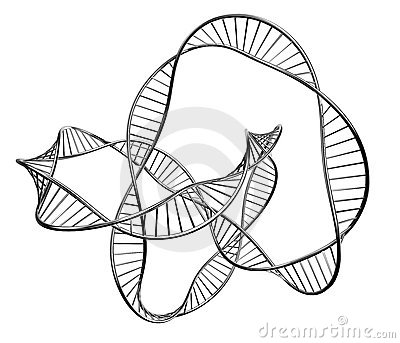 Illustration of a dna