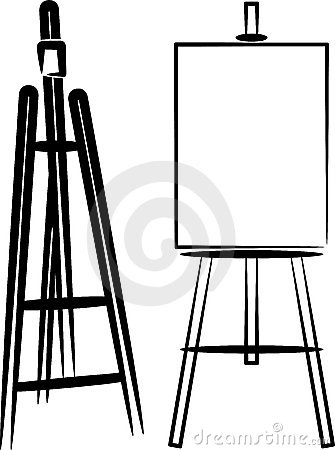 Illustration with easels