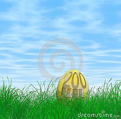 200 Euro Easter egg