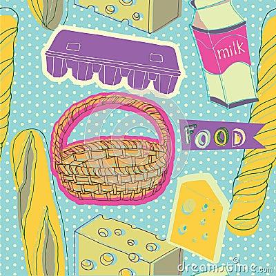 Illustration of eaten during breakfast