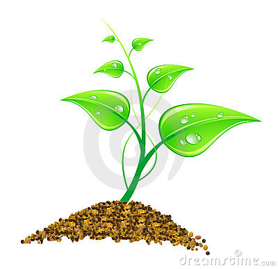 Illustration environmental concept - green leaves