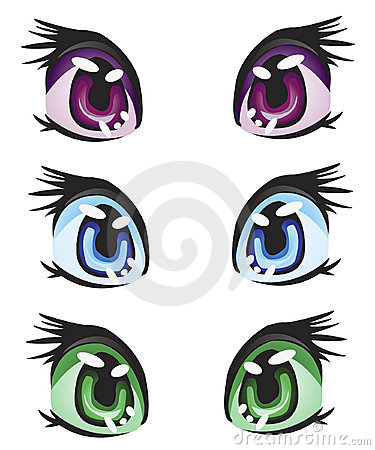 Illustration eye miscellaneous of the colour
