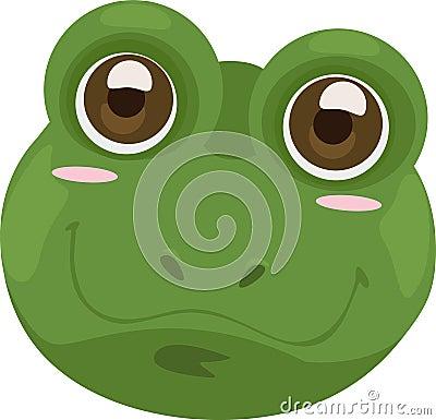 Illustration face frog