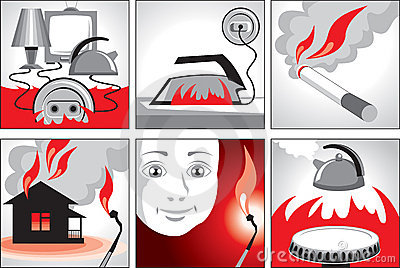 Illustration on fire safety