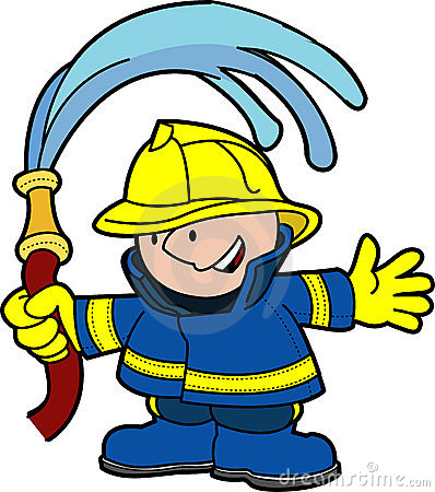 Illustration of fireman