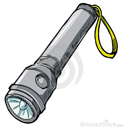 Illustration of a flashlight.
