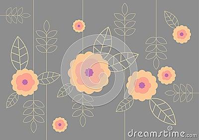 Illustration of flower pattern.