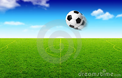 Illustration of football ball in motion