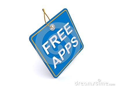 Illustration of FREE APPS tag