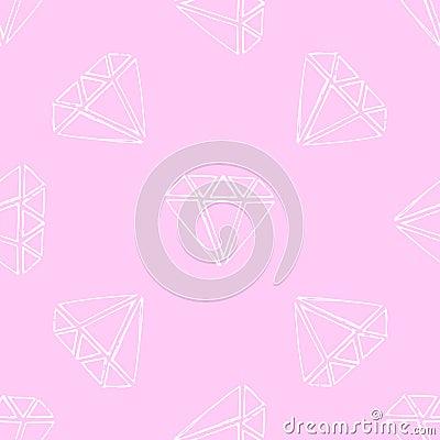Free Illustration Gems. Diamonds And Diamonds On A Pink Background. Royalty Free Stock Photo - 60223475