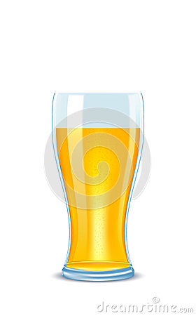 Illustration glass of beer