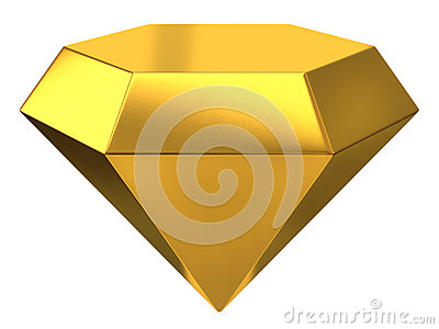 Illustration of gold diamond