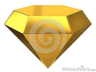 Illustration of gold diamond