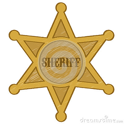 Sheriff star badge vector