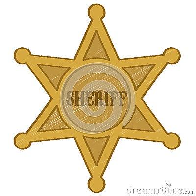 Sheriff star badge vector