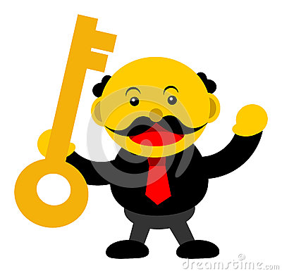 Illustration  graphic cartoon character of businessman