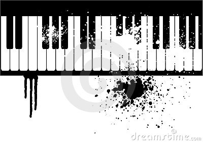 Illustration of a grunge piano
