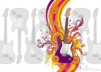 Illustration with guitar