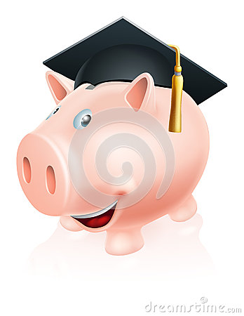 Education savings piggy bank