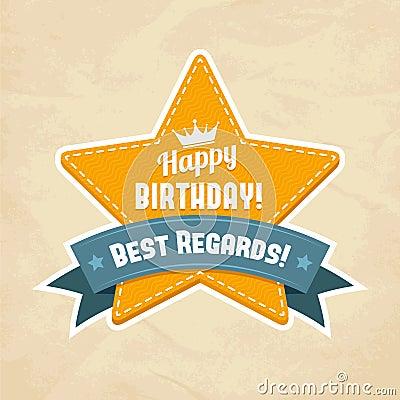 Illustration for happy birthday card