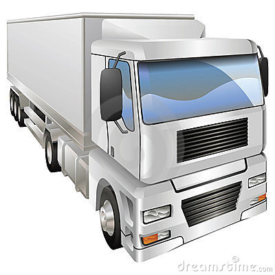 Illustration of haulage truck