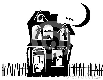 Illustration of a Haunted House