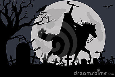 Illustration of a headless horseman