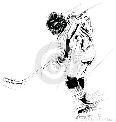 Free Illustration: Hockey Player Stock Photography - 6268022