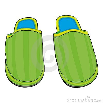 Illustration of home slippers