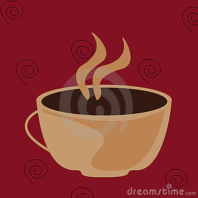 An illustration of a hot cup of coffee