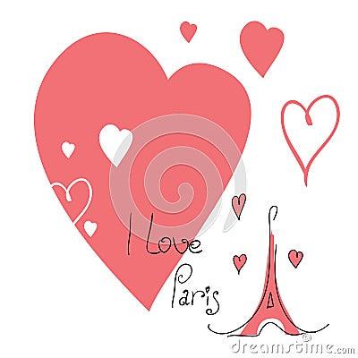 Illustration I love Paris