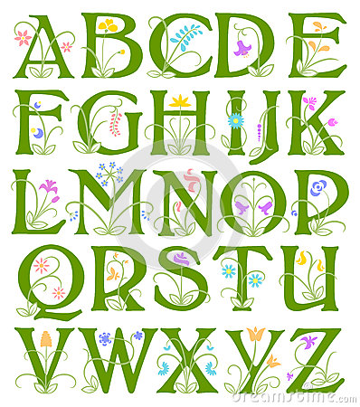Flower Alphabet/eps