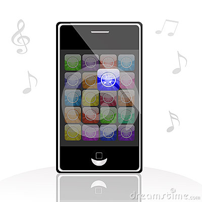 Illustration of iphone music