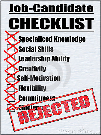 Illustration of a Job-Candidate Checklist