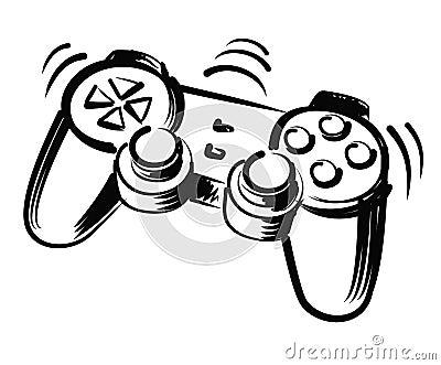 Illustration of joystick