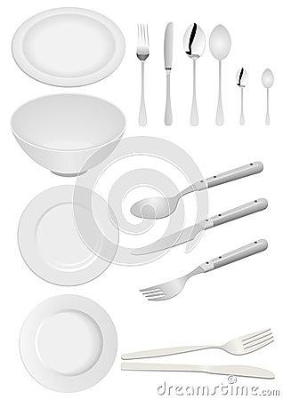 Illustration of kitchen ware isolated