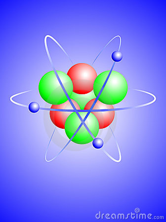 A  illustration of a lithium atom