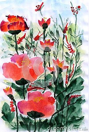 Illustration The little flower