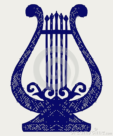 Illustration of lyre