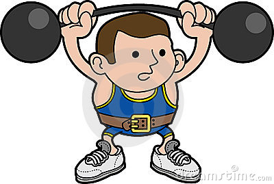 Illustration male weightlifter