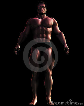 Illustration of Massive Male Bodybuilder
