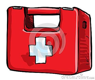 Illustration of medic kit.