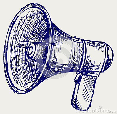 Illustration of megaphone