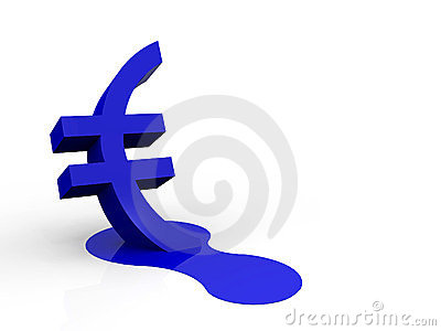 A illustration of a melting trade currency