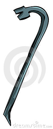Illustration of metal crowbar