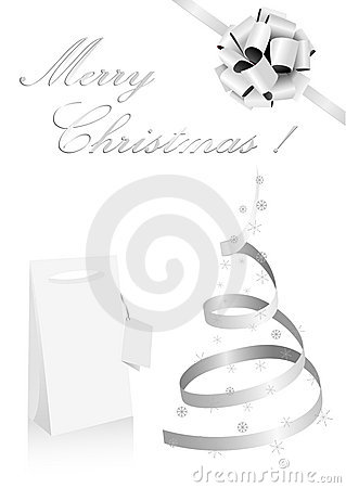 Illustration of a metaphoric silver Christmas tree